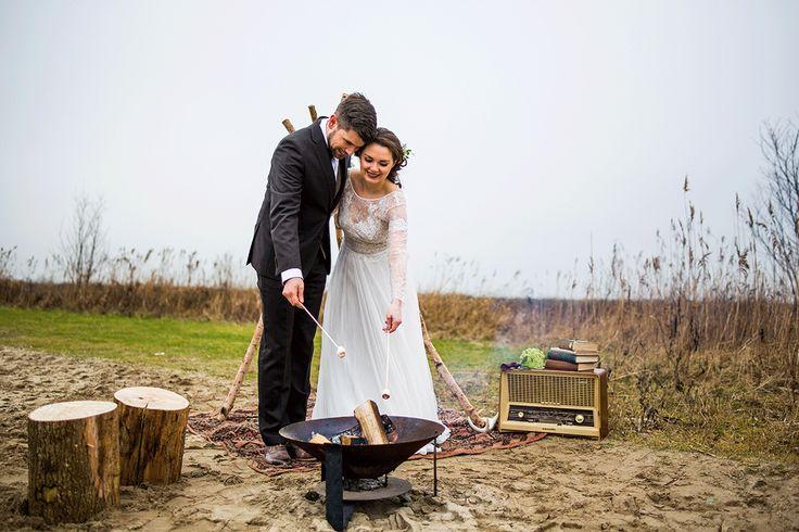 Marshmallows roosteren op je bruiloft? Ja graag! Foto: DM Fotografie