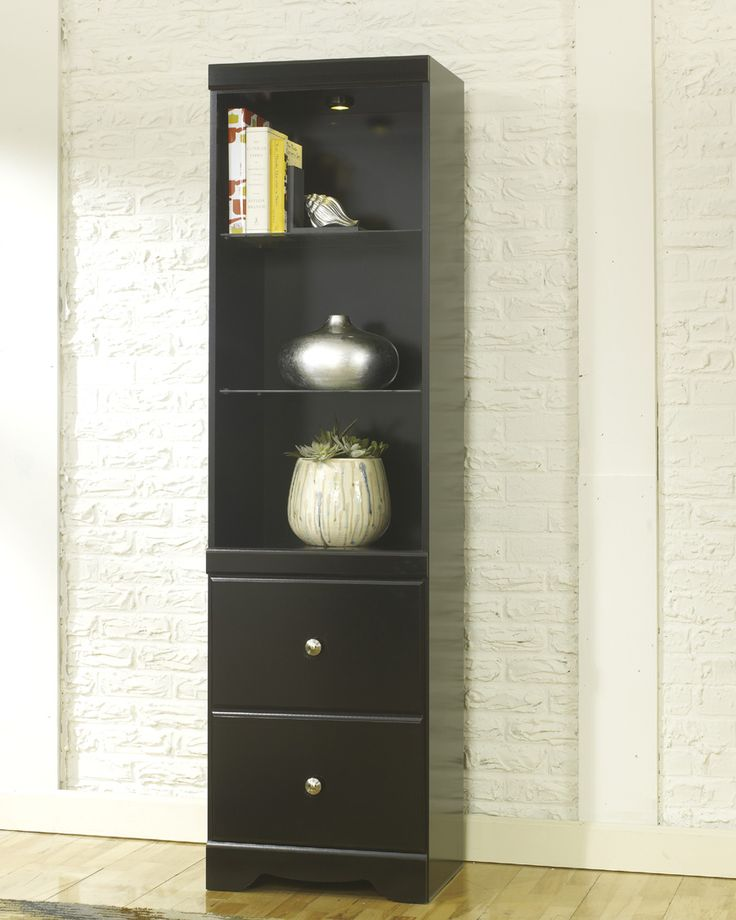 The pier from the wall unit can be used as a matching accent piece for the bedroom!