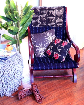 Upcycled - Justina Blakeney | idea for rocking chair | #diy #baby