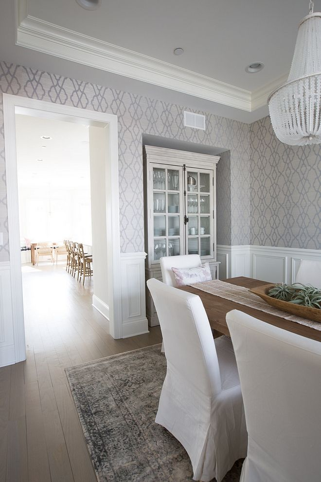 Dining Room, Dining Room Wallpaper Wainscoting