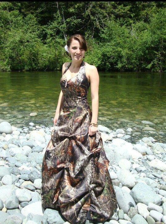 country girl wedding dresses camo
