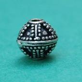 Oxidize sterling silver bali beads