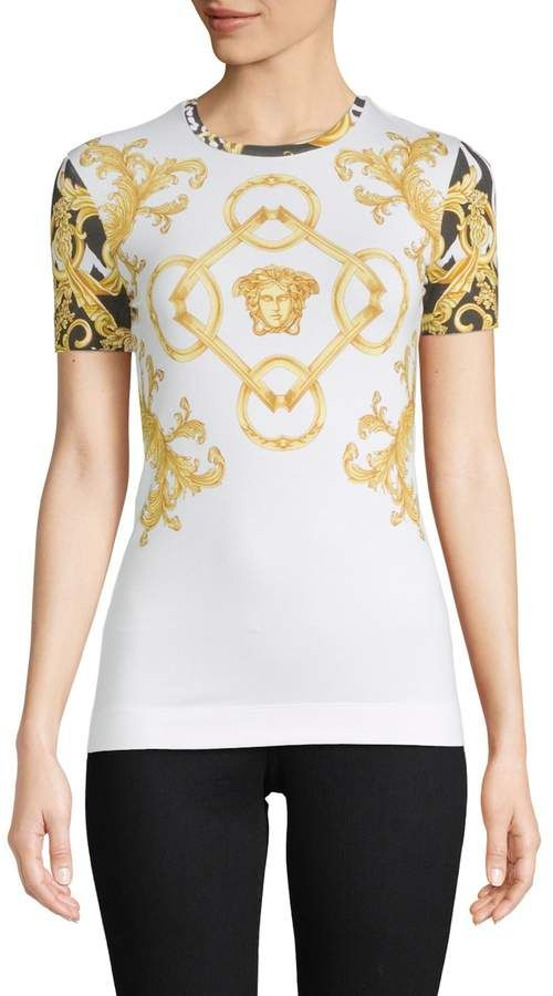 fdaa12342 Versace Women's Ornate Printed T-Shirt | Products | Fashion, Versace ...