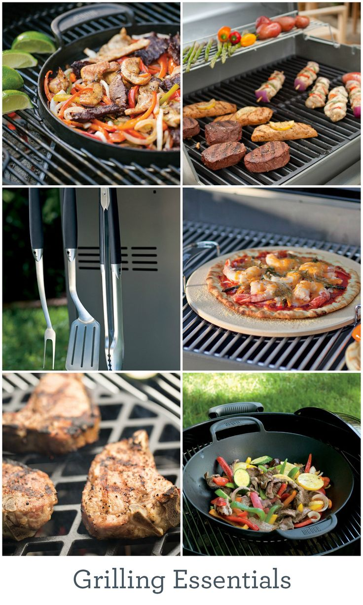 From skewers to sear grates and griddles, take your cookouts to the next level with these grilling essentials.