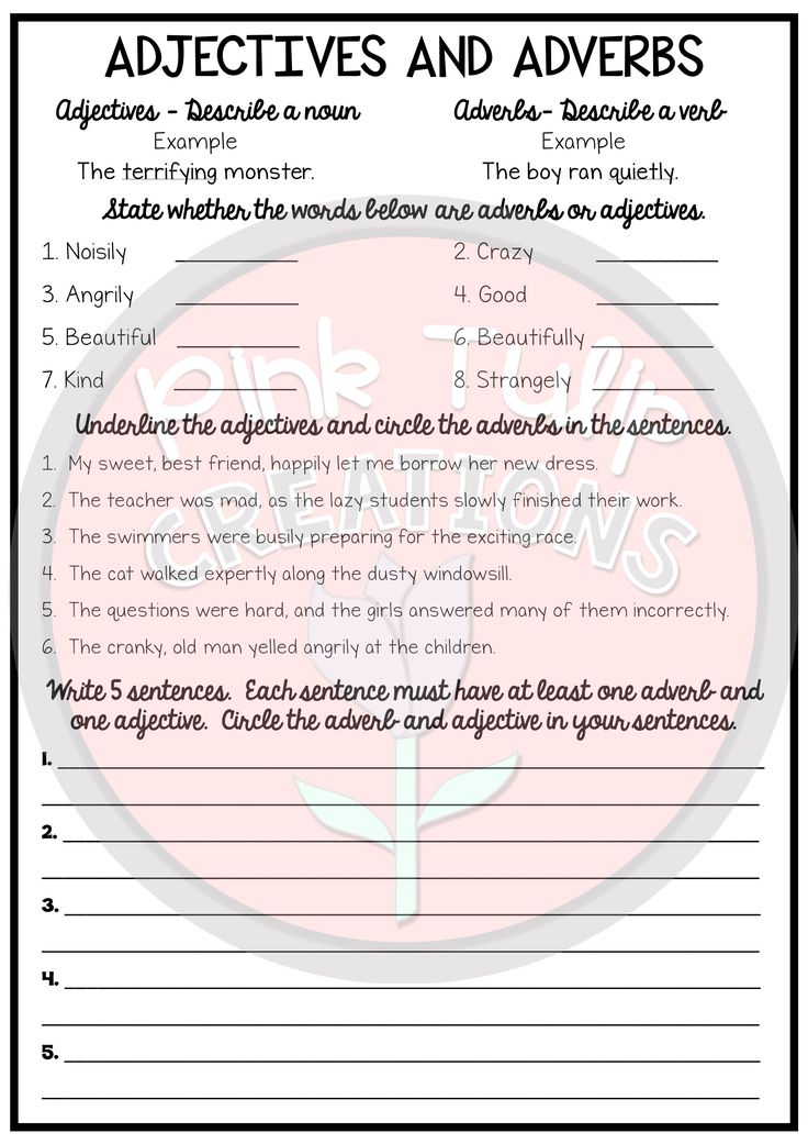 Printable Worksheets worksheets for substitute teachers : 370 best Teaching Adjectives/Adverbs images on Pinterest | Adverbs ...