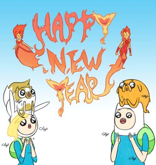 новый год,adventure time,время приключений,фэндомы,adventure time art,Finn,Финн - парнишка, Финн, Финн парнишка,Fionna,Фионна - Девочка, фионна,Flame Princess,Огненная принцесса - Принцесса огненного королевства, огненная принцесса, пламенная принцесса,Flame Prince,Огненный Принц,Jake,Джейк - Пес,