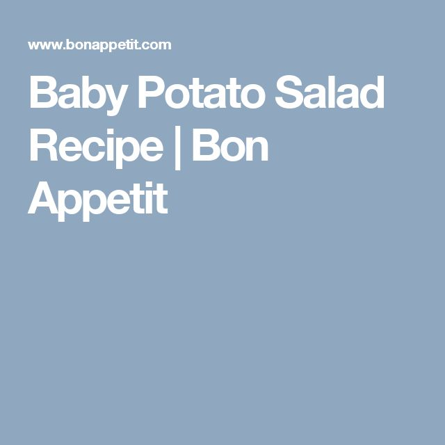 Baby Potato Salad Recipe | Bon Appetit