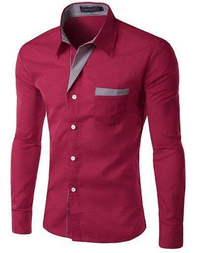Gender: Men Item Type: Shirts Shirts Type: Casual Shirts Sleeve Style: Regular Material: Cotton, Polyester Model Number: 8012