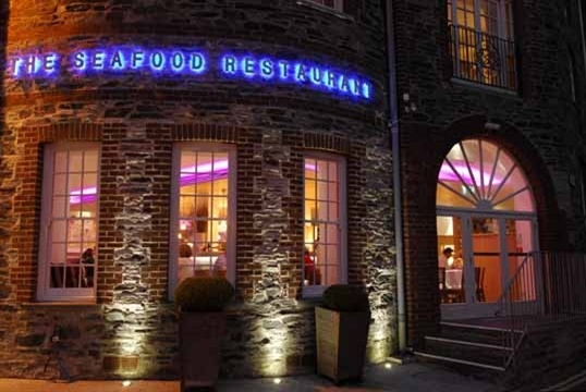 Rick stein's seafood restaurant. Padstow, Cornwall, England.