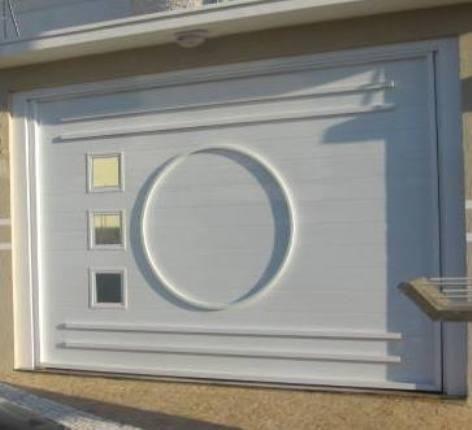 Portão de chapa metalon