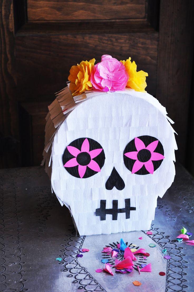 Diy halloween skull decorations - How To Make A Calaveras Pinata