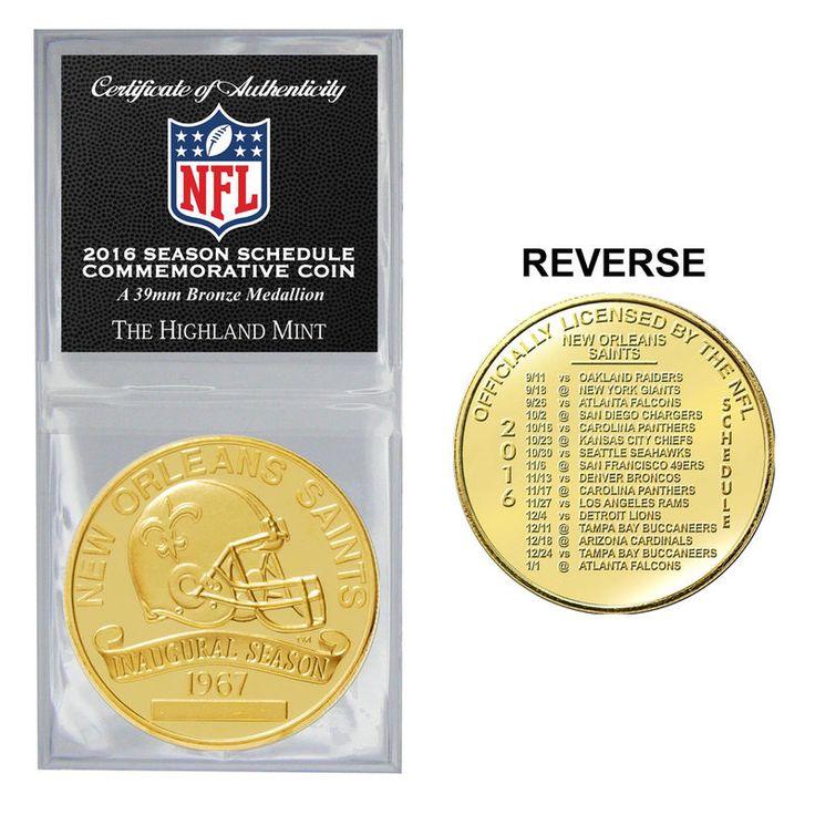 New Orleans Saints Highland Mint 2016 Schedule Bronze Coin