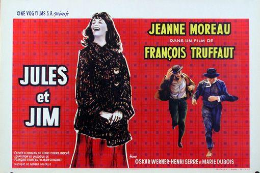 Lobbycard of Jules et Jim (1961), François Truffaut