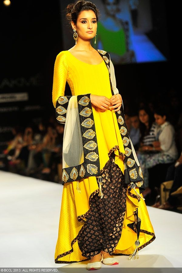 Kanishta Dhankar walks the ramp for designer Payal Singhal on Day 5 of the Lakme Fashion Week (LFW) Summer Resort 2013, held at Grand Hyatt, Mumbai, on March 25, 2013
