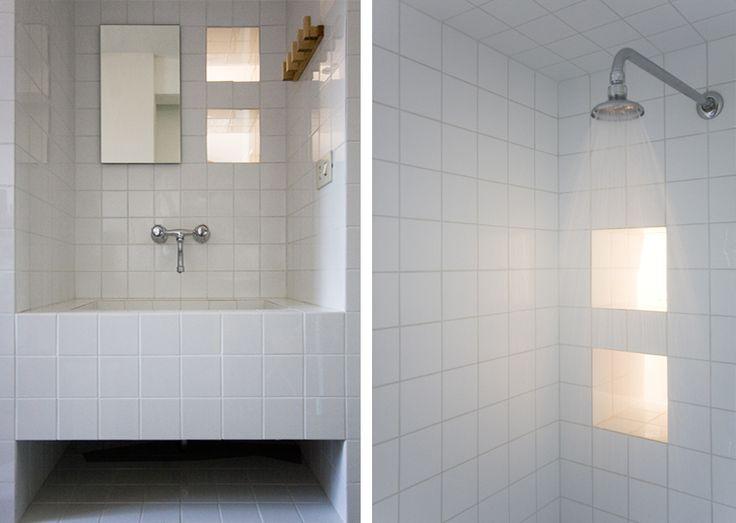 Freestanding all tiles bathroom    Karin Matz Arkitekt