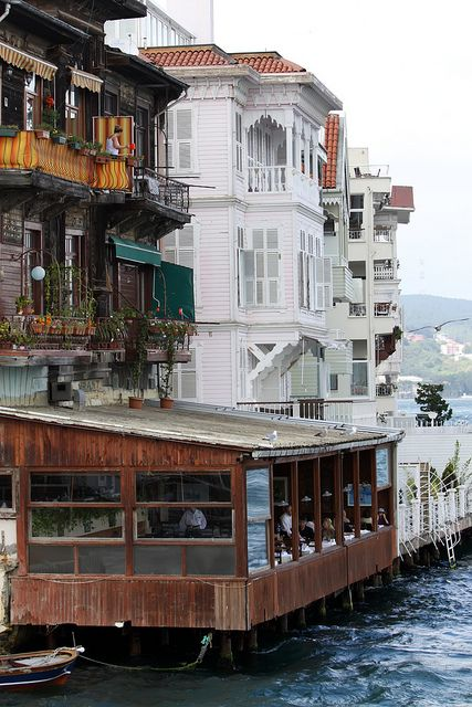 "Restaurant on the Bosphorus by kunitsa,Include #Istanbul in your #travel #bucketlist #bucket #list. Checkout ""City is Yours"" http://www.cityisyours.com/explore to discover amazing bucket lists created by local experts. #local #restaurant #bar #hotel."
