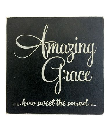 Another great find on #zulily! 'Amazing Grace' Wall Sign #zulilyfinds