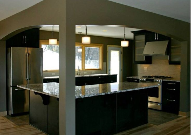 Dark cabinets oak trim dwelling pinterest cabinets for White kitchen cabinets with oak trim