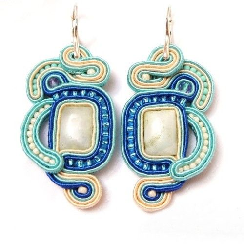 Long soutache earrings by Manufaktura Charlie
