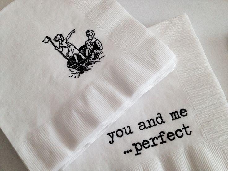 Stamped paper napkins