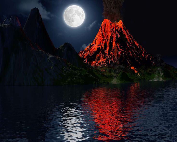 #active #ash #crater #danger #earth #earthquake #eruption #exploding #explosion #fire #geology #glowing #hell #island #landscape #lava #lunar #magma #moon #moonlight #mountain #nature #night #outdoor #planet #science #smok