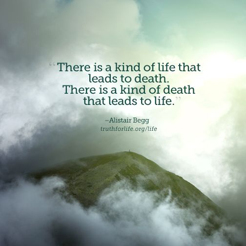 A death that leads to life...: