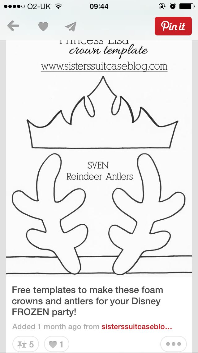 Crown And Horn Templates