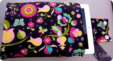 iPad or Tablet Padded Case Tutorial - Girl Loves Glam