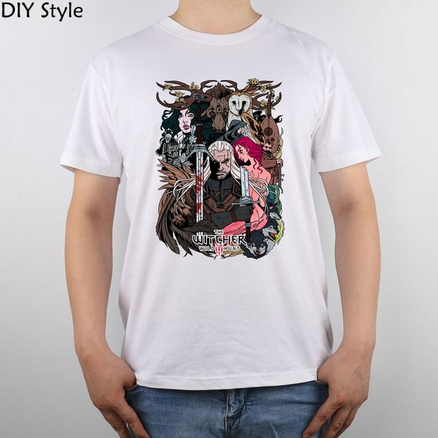 Check lastest price The Witcher 3 Wild Hunt t-shirt Top Pure Cotton Men T Shirt just only $12.19 with free shipping worldwide  #tshirtsformen Plese click on picture to see our special price for you