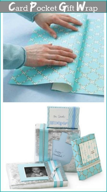 Gift wrapping with a card pocket. Smart!