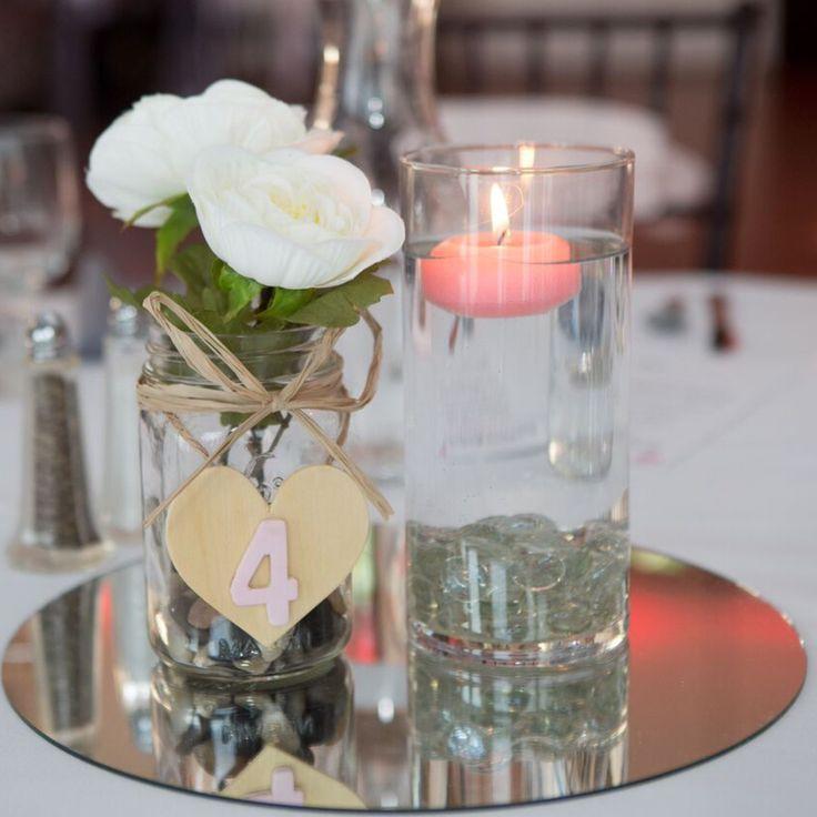 Round Glass Centerpiece Mirror : Best images about wedding centerpieces on pinterest