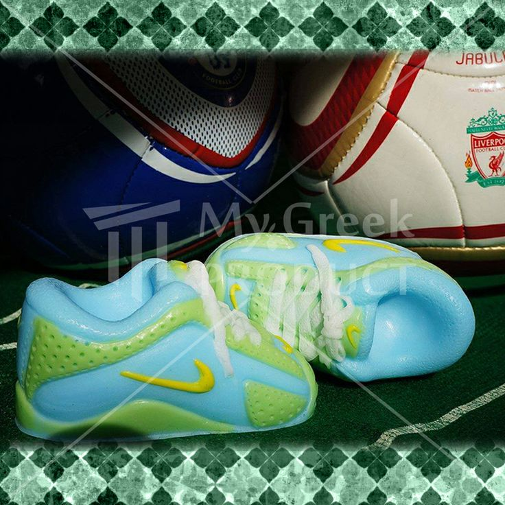 Decorative Nike shoe soap 90gr  produced in Thessaloniki. Handmade glycerin soap enriched with goat's milk, shea butter and almond oil. It has a strong and sweet smell. This product is made from 100% natural ingredients. see more http://mygreekproduct.com/index.php?id_product=120&controller=product&id_lang=1