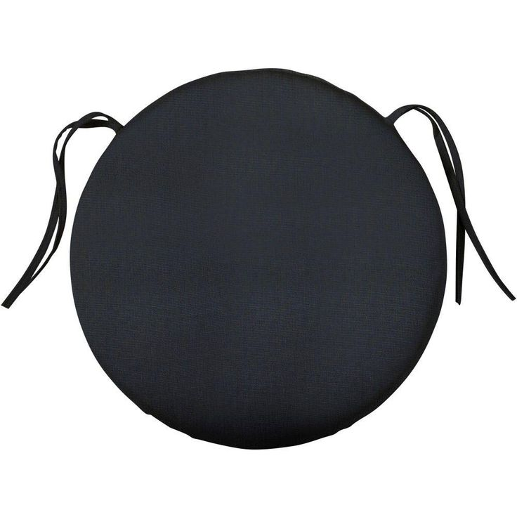 Home Decorators Collection Sunbrella Canvas Navy Round Outdoor Seat Cushion