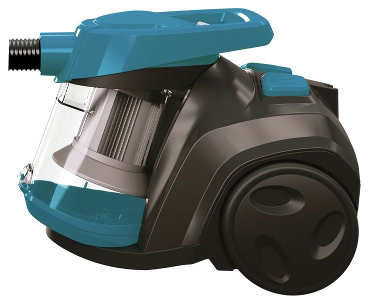 Bissell - Compact - Bagless Cylinder - Vacuum Cleaner: The EasyVac bagless cylinder vacuum has cyclonic action and powerful suction that…