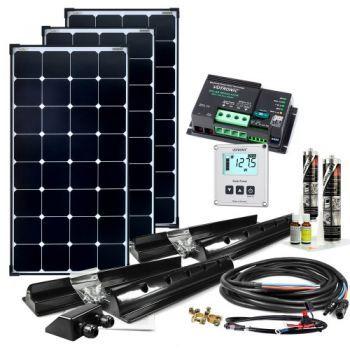 Nice Dieses Solar Set f r die autarke Stromversorgung in einem Wohnmobil l sst wirklich keine W nsche offen Innovative Mpp Dual Laderegler Technik kombiniert
