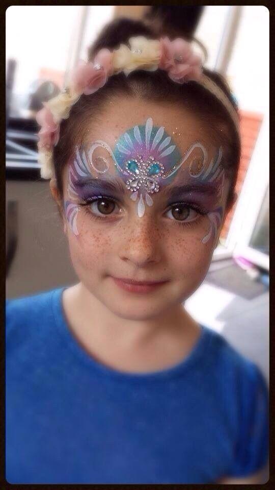 Princess crown face paint