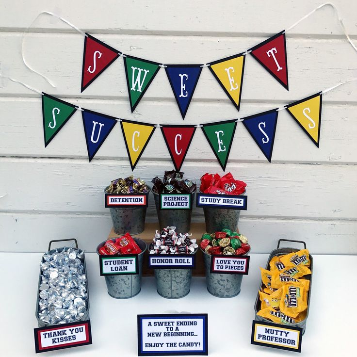 Brand new banner that matches our graduation candy sign sets!!! Now your graduation candy party will be a sweet success!