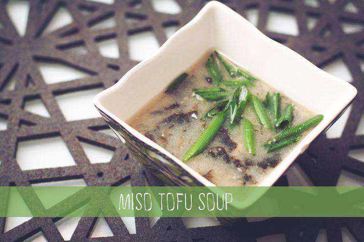Miso Tofu Soup {chicksandpeas.ca}