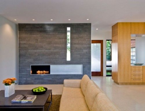 Modern Fireplace Design - Extend fireplace wall for balance + hang TV centered above + extend opening and cover