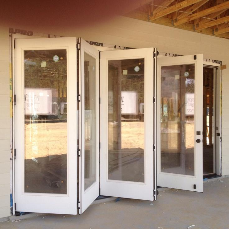 5 panel fiberglass folding door system by Heckard\u0027s Door & 77 best Favorite Doors Installed images on Pinterest | Double ...