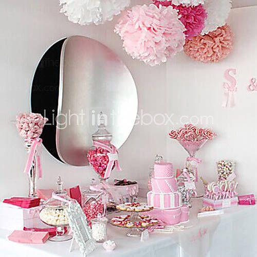 EUR € 4.09 - 6 pollici fiori di carta decorazione festa poms carta velina pom matrimonio mestiere nozze (set di 4), Gadget a Spedizione Gratuita da MiniInTheBox!