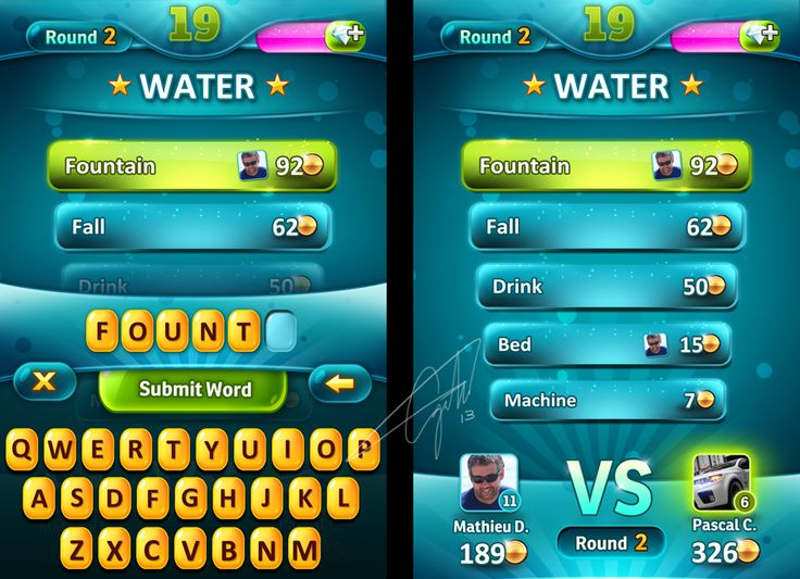 Casual Word Game UI v2 by Forza27 on deviantART