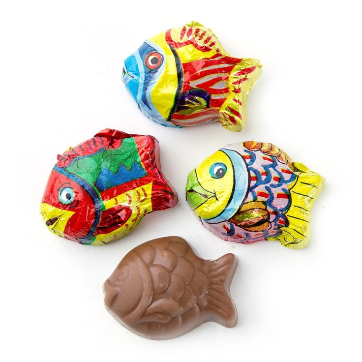 Milk Chocolate Mini Fish • Chocolate Novelties • Bulk Chocolate • Oh! Nuts®