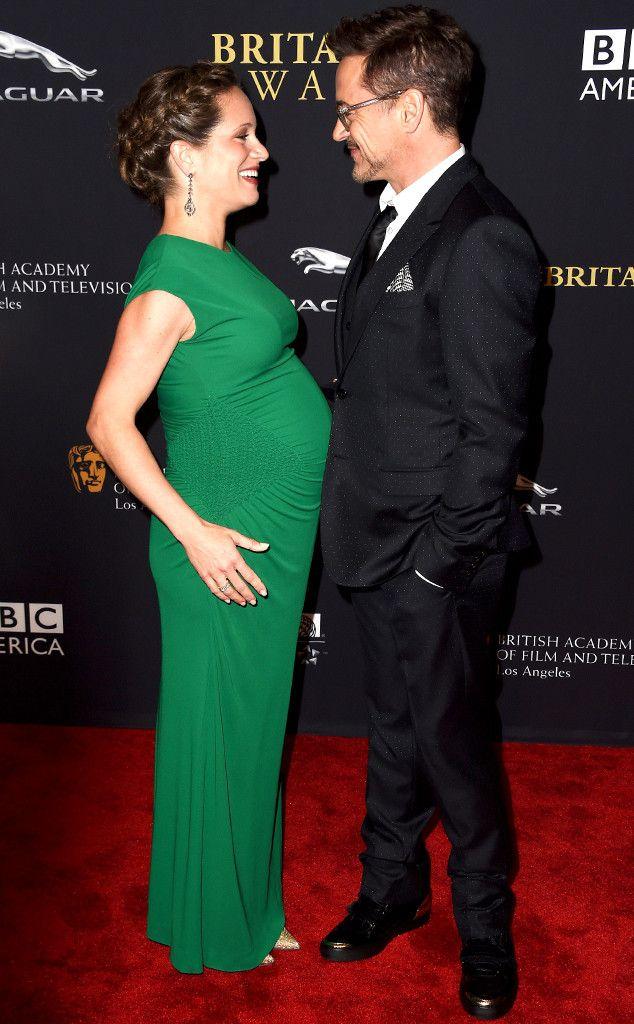 Robert Downey Jr., Susan Downey at the Britannia Awards, Los Angeles, Oct. 30, 2014. She's due Nov. 11!