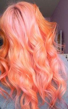 orange pink hair - Google Search