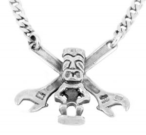 Tiki Shifter necklace in sterling silver - $275