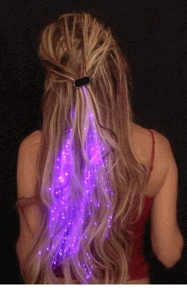 Illuminating Fiber Optic Hair Extensions @Kirsten Hubbard: Hair Barrettes, Hairstyles, Illuminated Fiber, Optical Hair, Hair Style, Strands Illuminated, Fiber Optical, Starlight Strands, Hair Extensions