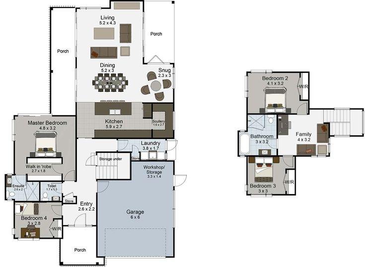 Patiki 4 bedroom 2 storey house plan Landmark Homes builders NZ