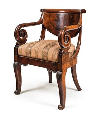 Neo-Classical armchair, Baltic region, 2nd quarter of the 19th century.