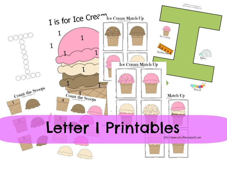 17 best letter i images on pinterest preschool activities ice cream printables for toddlers spiritdancerdesigns Choice Image